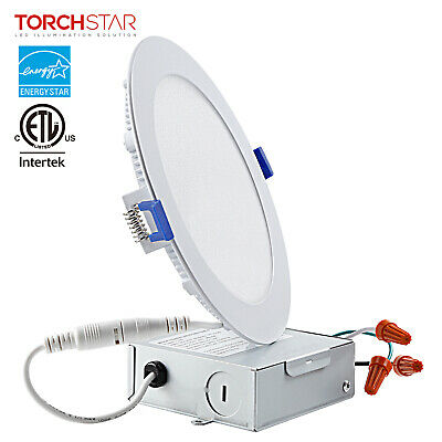 Torchstar 12w 6 Quot Dimmable Led Recessed Light Low Profile