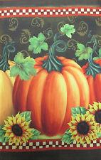 """Pumpkin with flowers Fall Garden Flag Autumn Sunflower Harvest 12""""X18"""""""