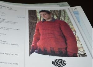 Knit One Crochet Too Knitting Pattern Buffalo Plaid Pullover Men Ebay