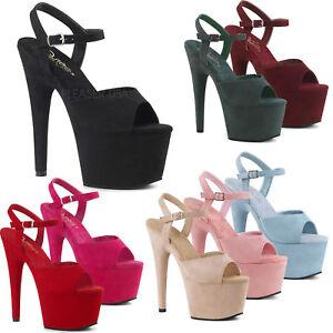 9f3088e7645 Details about PLEASER - Adore-709FS Heel Ankle Strap Sandal Featuring  Platform Bottom