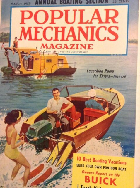 Popular Mechanics Magazine 10 Best Boating Vacations March 1959 093017nonrh