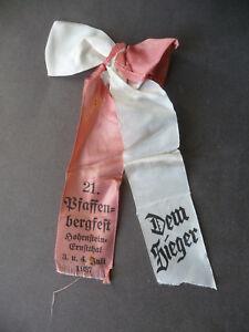 Flight Tracker Siegerschleife Pfaffenbergfest Hohenstein-ernstthal 1937 Lange Lebensdauer Pins & Anstecknadeln Abzeichen & Nadeln Bis 1945