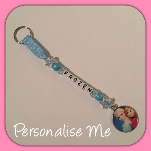 Personalised Frozen Character Bag Tag//Keyrings