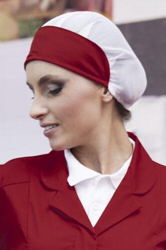 Cappello Cuoco Cuffia Donna Berretto da Lavoro Alimentare Cucina Ristorante Bar