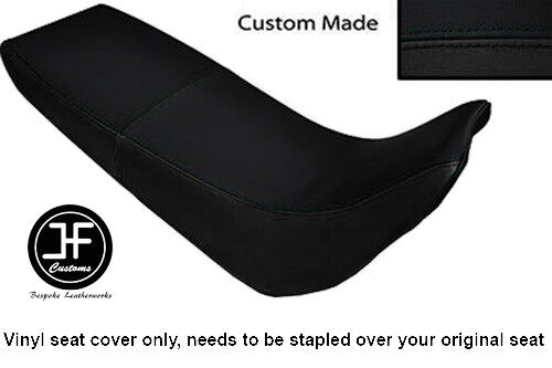 BLACK VINYL CUSTOM MADE FITS YAMAHA XT 600 E 96-04 DUAL SEAT COVER ONLY
