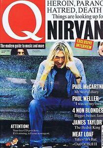 NIRVANA-PAUL-McARTNEY-PAUL-WELLER-Q-Magazine-no-85-Oct-1993