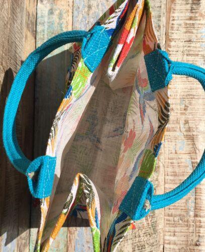 ETHICALLY SOURCED FAIR TRADE JUTE ECO SHOPPING BAG PARROT DESIGN