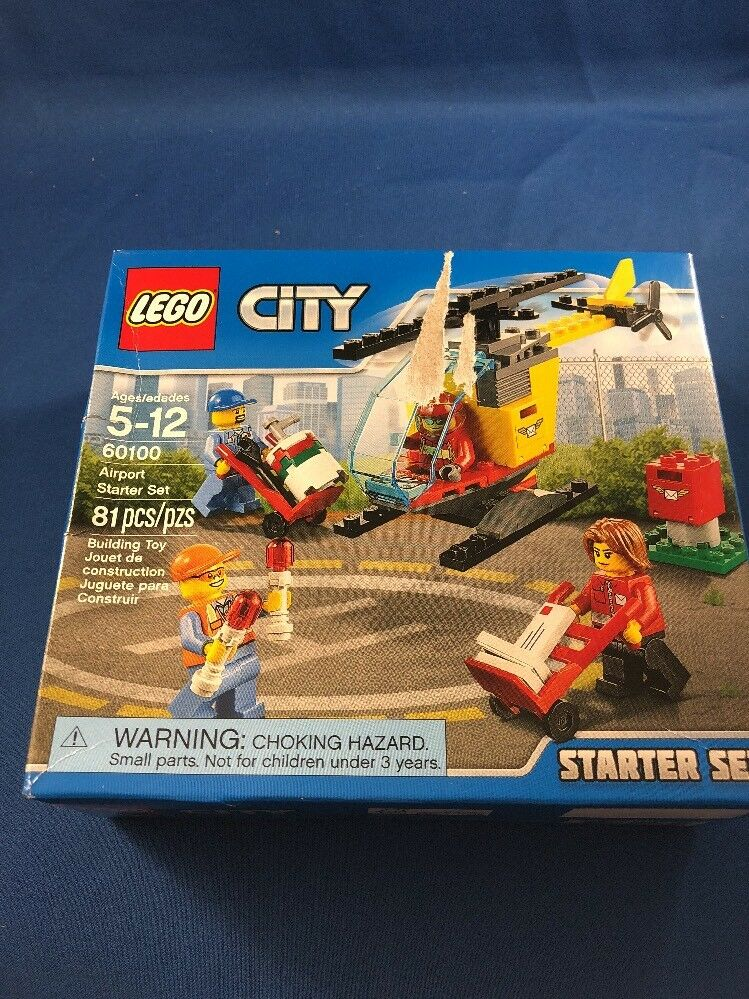 60100 Lego City Airport Airport Starter Set Ages 5-12 /& 81 Pieces New 2016