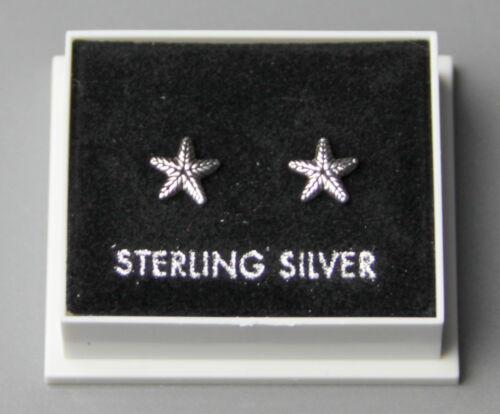 Stud 18 estrellas de mar Diseño Mariposa Espalda Plata esterlina 925 Aretes