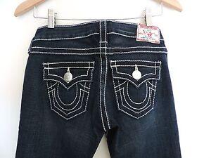 Women-039-s-True-Religion-Dark-Boot-Cut-Jeans-Size-26