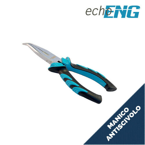Pinza becchi mezzi-tondi piegati manico ergonomico antiscivolo mm 180 UM 30 PP17