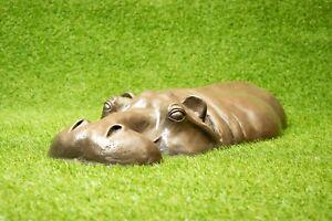 Bronze Résine Hippo Hippopotame Cadeau D'anniversaire Pelouse Sculpture Décoration De Jardin-afficher Le Titre D'origine