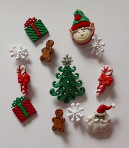 Nouveau christmas novelty dress it up boutons à coudre gingerbread snowflake bouton
