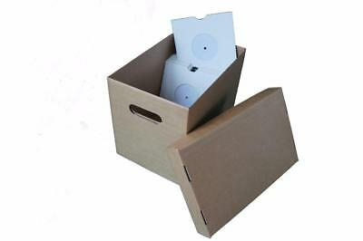 "Singles Professional Design Storage & Media Accessories Music Active 6 X 7"" Vinyl Record Storage Box For 7"" Records"