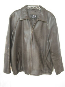 94663dd53 Details about Leather bomber distressed brown jacket NORDSTROM LNR womens  large-PRE-OWNED