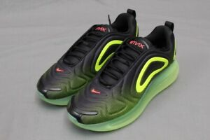5972e71f15 Image is loading NIKE-AIR-MAX-720-BLACK-BRIGHT-CRIMSON-VOLT-