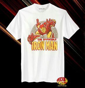 Invincible Iron Man Marvel Charcoal Men/'s New T-Shirt Short Sleeve Tee Superhero