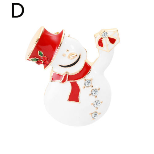Crystal Rhinestone Fashion Christmas Brooch Pins Charm Women Jewellery Gift