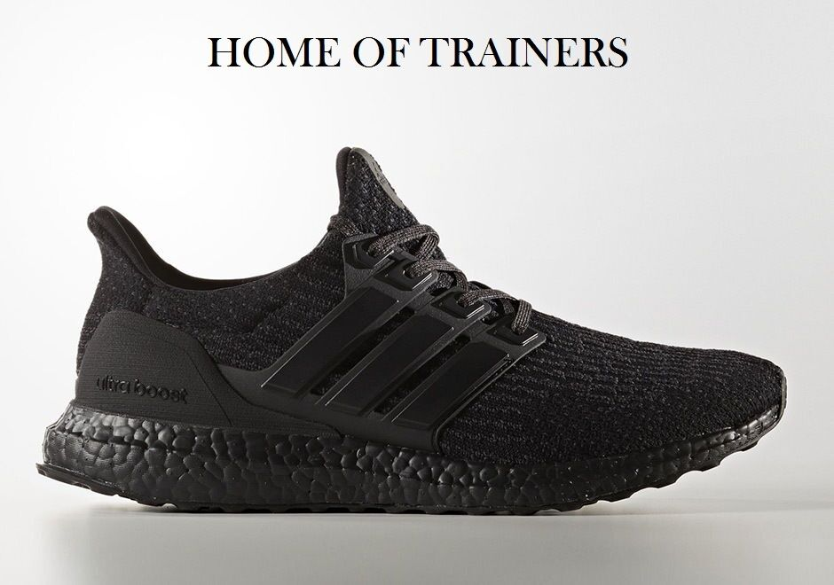 Adidas Ultra Boost 3.0 Triple Black Men's Trainers All Comfortable