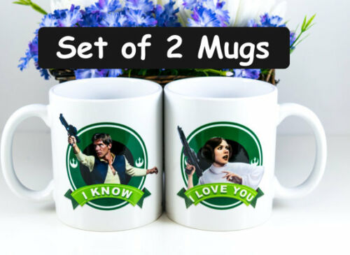 I knowCouples Gift Personalized Han Solo and Leia Set of 2 MugsI Love You