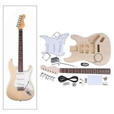 DIY Unfinished Project Luthier Electric Guitar Kit Maple Neck US Q6Z8