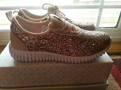 rose gold sparkle sneakers