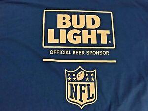 New Bud Light Beer Shirt Blue Nfl Football Logo Sizes
