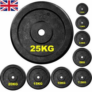 TnP Distribution Solid Steel 1 Standard Weight Plates Disc 15KG Single Hammertone for Dumbbell Barbell Bar Weights Set