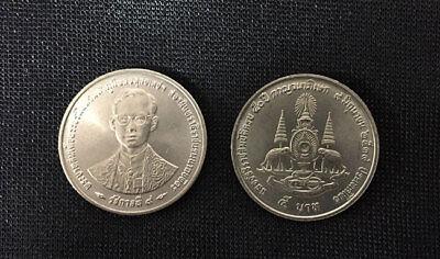"""THAILAND 20 BAHT /""""50th Ann OF THE REIGN OF RAMA IX/"""" COIN 1996 UNC"""