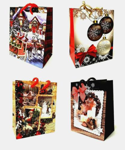 24//48 Jumbo Weihnachtstüten Geschenktüten Weihnachten Geschenktaschen 47022 BA