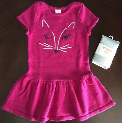 NWT Gymboree Fox Sweater Dress Girls Outlet 5//6,10//12