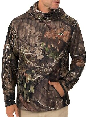 Mossy Oak Mens Performance Fleece Hoodie with Gaiter Size 2X NEW 50-52