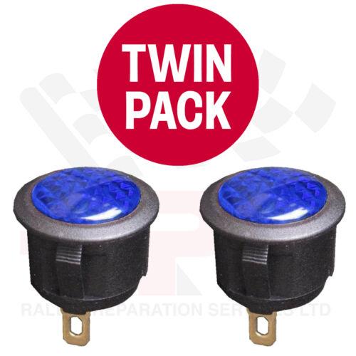 TWIN PACK BLUE 12 Volt LED Warning Light Race Rally Off Road Kit Drift Car