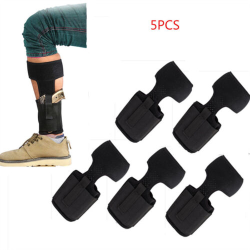 2//5PCS Concealed Carry Ankle Leg Holster For Glock 17 19 22 23 Ruger LCP SIG 9MM