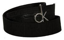 Cintura belt CK CALVIN KLEIN art. KW22AL taglia 85 colore 9B8 NERO BLACK LOG