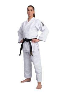 Phoenix-Aikido-Gi-weiss-450-gr-qm-140cm-200cm-100-Baumwolle-Mit-Bestickung