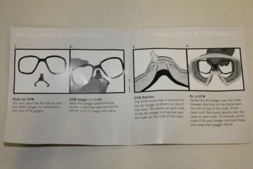 Smith Optics Rx System OTW Google Aegis Eyeshield RX Intercheangable 1RXINS08