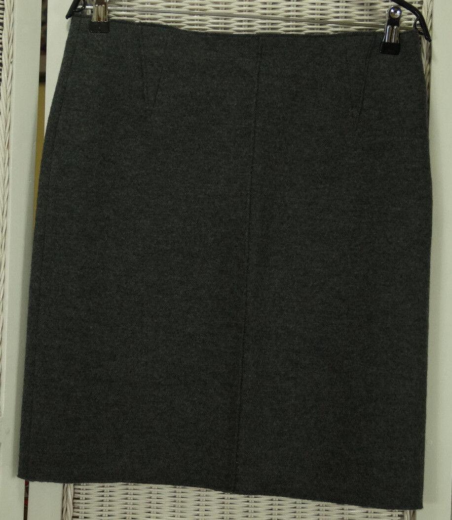 PHILO Grey Virgin Wool Pencil Skirt M-L 32 W Classic Tailored Office Career 21 L