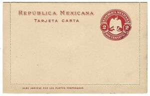 Mexico 2c postal stationery lettercard overprinted MUESTRA