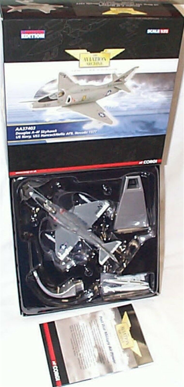 Douglas a-4f skyhawk uns nevada 1977 corgi 1-72 skala aa37403 new in box ltd. ed