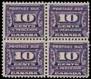 Canada 1933 10¢ Postage Due Block