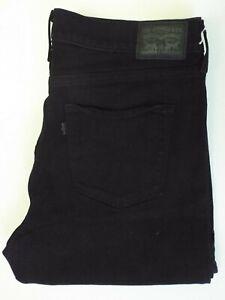 Levi-039-s-314-Jeans-Damen-Stretch-Shaping-Straight-Leg-w34-l32-schwarz-levq-407