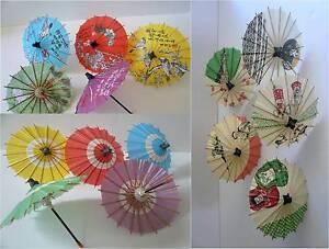 15 Pcs. Japanese Mini KASA Umbrella Paper Parasol Hand-made Multi-Color