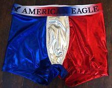 American Eagle Classic Trunk METALLIC RED WHITE BLUE Underwear Boxer S (29/31)