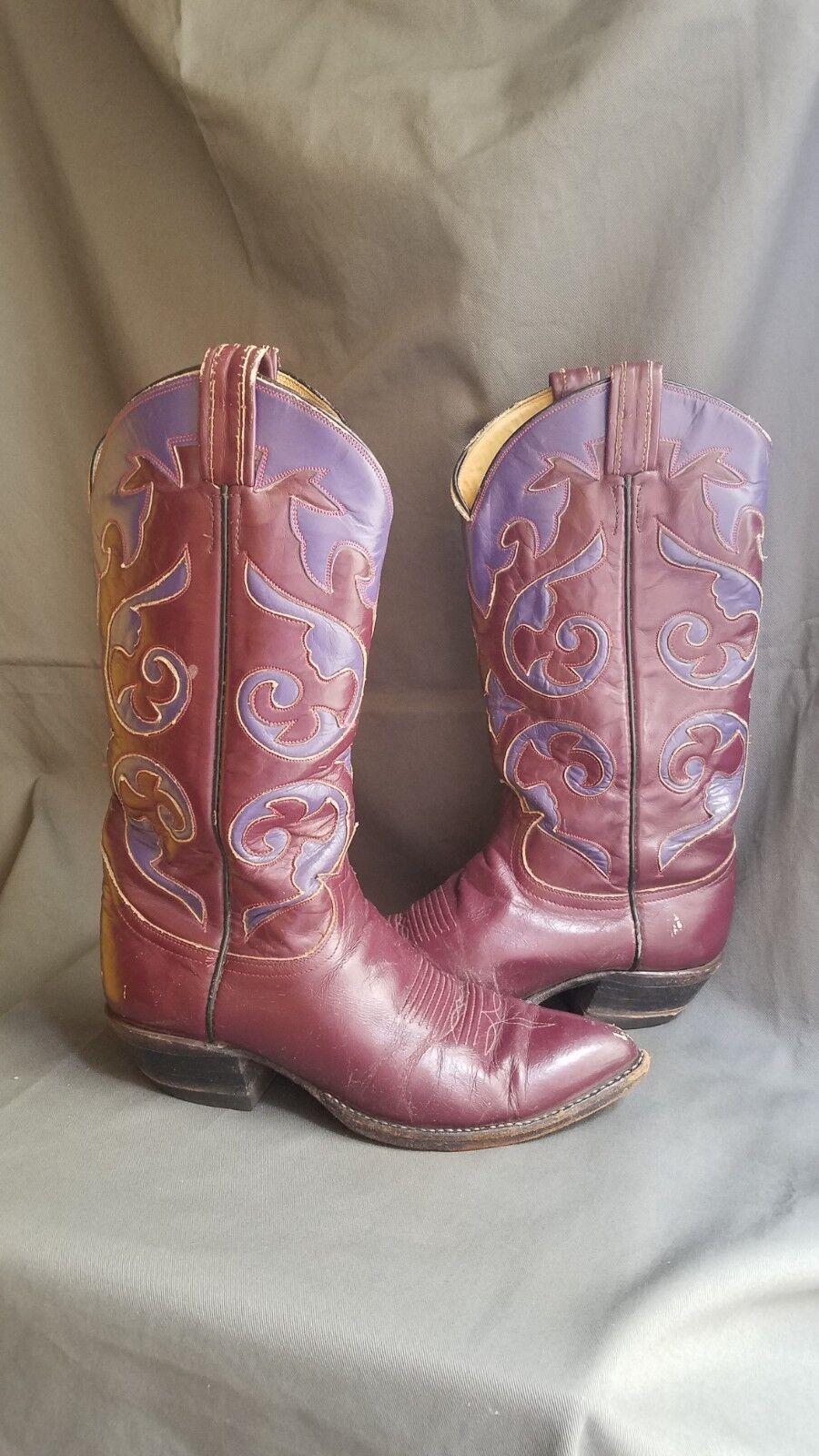 acquistare ora Vintage Multi-Colore Leather TONY LAMA COWBOY Rancher Rancher Rancher stivali nero TAG Sz-8  negozio online