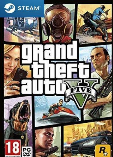 Grand Theft Auto V PC Steam accout + 60 games