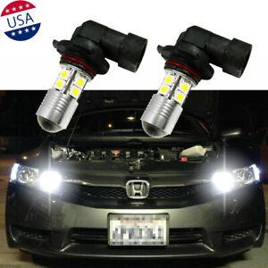 9005-100W-6000K-White-LED-DRL-Daytime-Running-Light-Bulbs-For-Honda-Civic-Accord
