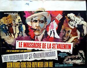St Valentine S Day Massacre Belgian Movie Poster 1967 Roger Corman