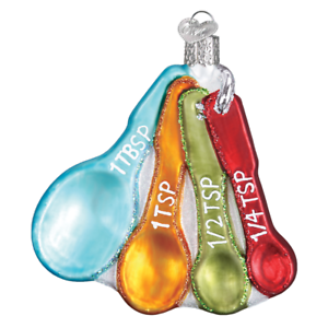 034-Measuring-Spoons-034-32346-X-Old-World-Christmas-Glass-Ornament-w-OWC-Box