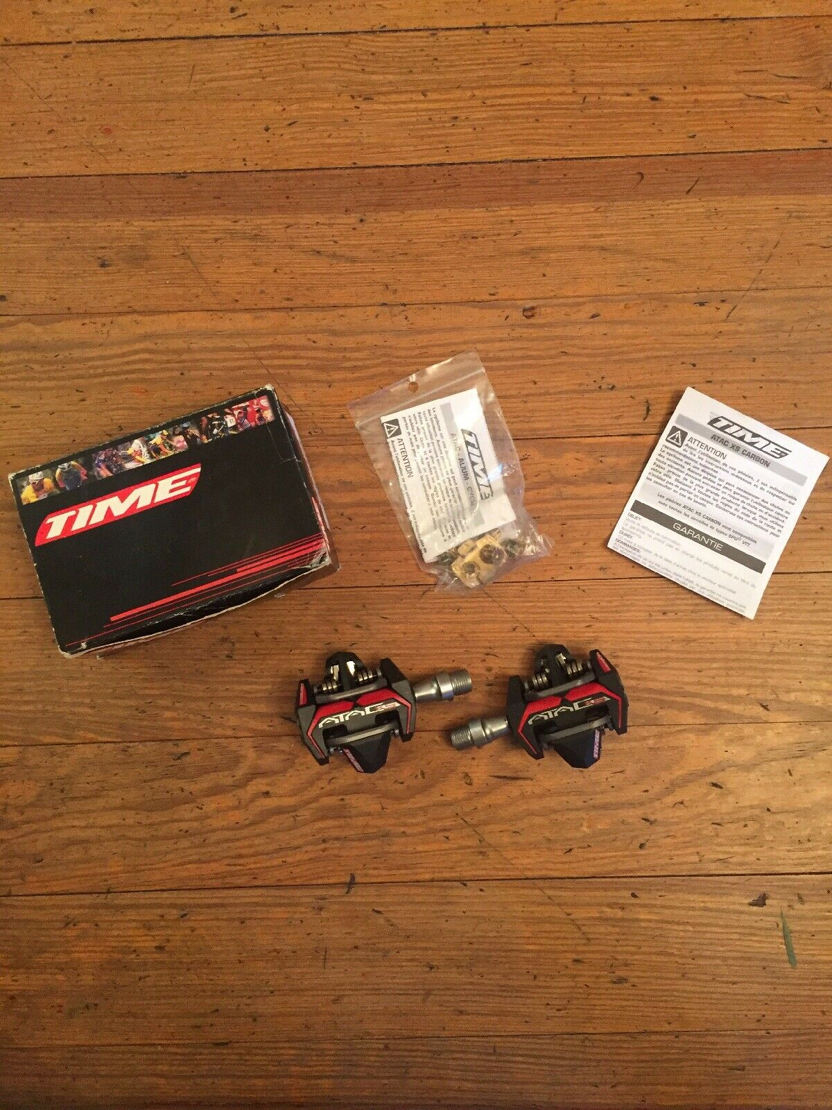 Time ATAC XS Carbon Clipless Mountain Bike Pedals 916 w Cleats New NIB